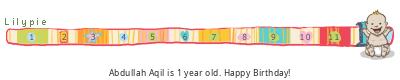 Lilypie First Birthday (3OY7)