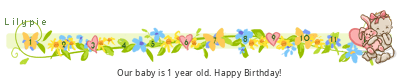 http://lb1f.lilypie.com/6xBHp1.png width=400 height=80 border=0 alt=Lilypie First Birthday tickers