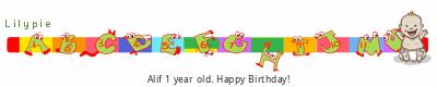 Lilypie First Birthday (E186)