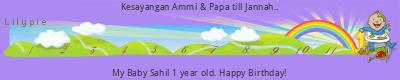 Lilypie First Birthday (pfAq)