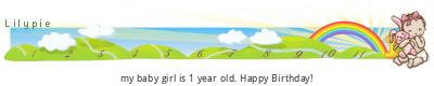 Lilypie First Birthday (qGPt)