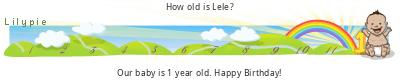 Lilypie First Birthday (rHP4)