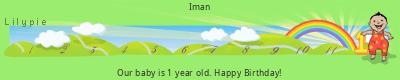 Lilypie First Birthday (vAfP)